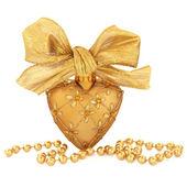 Gouden bauble decoratie — Stockfoto