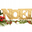 Noel Glitter Decoration — Stock Photo