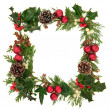 Christmas Decorative Border — Stock Photo