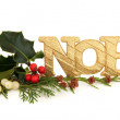 Stock Photo: Noel Glitter Decoration
