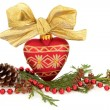 Christmas Bauble and Flora — Stock Photo #13648414