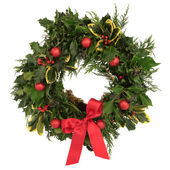 Christmas Decorative Wreath — 图库照片