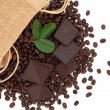 Chocolate and Coffee Beans — Stock Photo #13799491