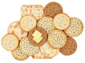 Cracker Biscuits — Stock Photo