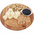 soybean products — Stock Photo