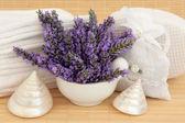 Lavender Flower Spa — Stock Photo