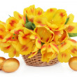 Easter Flower Basket — Stock Photo