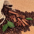 Spice and Coffee Beans — Stock Photo