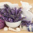 Lavender Herb Spa — Stock Photo