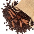 Cinnamon Coffee — Stock Photo