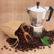 Постер, плакат: Coffee Maker and Beans