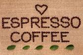 Espreso káva — Stock fotografie