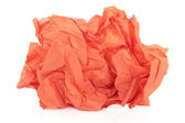 Orange Tissue Paper — Stock Photo