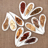 Chinese Herb Selection — Stock Photo