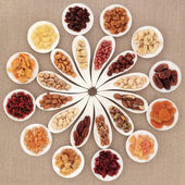 Fruit and Nut Selection — Stock Photo