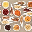 Stock Photo: Nut and Fruit Sampler