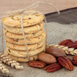 Pecan Cookies — Stock Photo