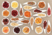 Nut and Fruit Sampler — 图库照片