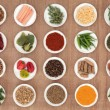 Stock Photo: Herb and Spice Sampler