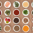 Herb and Spice Sampler — Stock Photo