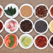 Stock Photo: Food Ingredient Sampler