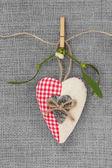Vánoční srdce cetka — Stock fotografie