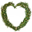 Mistletoe Heart Wreath — Stock Photo