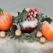 Christmas Fruit Decoration — Stock Photo