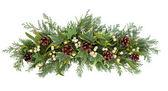 Kerstmis floral weergeven — Stockfoto
