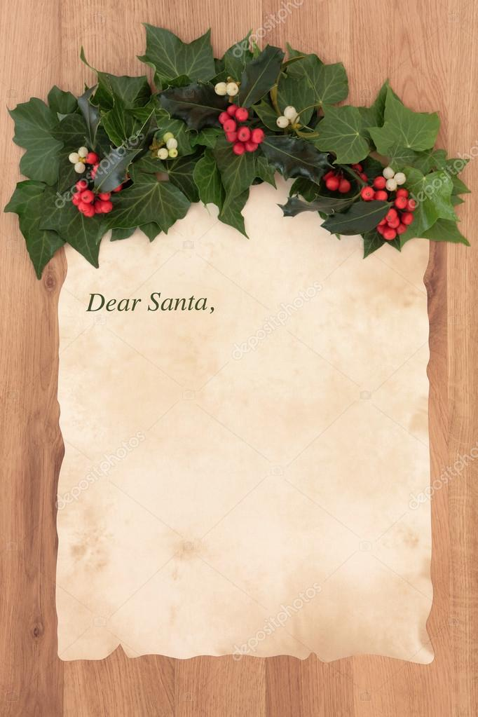 Santa Letter Backgrounds Letter to Santa Claus on Old