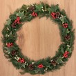 Holly Berry Wreath — Stock Photo