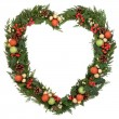 Heart Shaped Wreath — Stock Photo #32152507