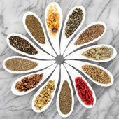 Natural Herbal Teas — Stock Photo