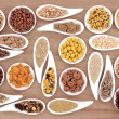 Stock Photo: Breakfast Cereal Sampler