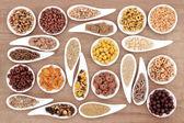 Breakfast Cereal Sampler — Stock Photo