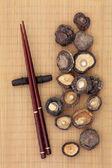 Shiitake houby — Stock fotografie
