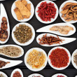 Stock Photo: Herbal Medicine Ingredients