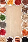 Superfood Border — Stock Photo