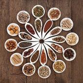 Chinese Herbal Medicine Platter — Stock Photo