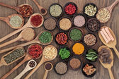Healthy Herbs and Spices — Stock Photo