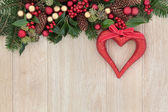 Christmas Heart Decoration — Stock Photo