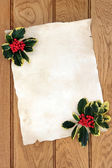 Christmas Parchment Letter — Stock Photo