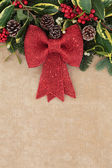 Christmas Red Bow Decoration — Stock Photo