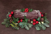 Yuletide Log — Stock Photo