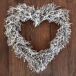 Heart Shaped Wreath — Stock Photo #50097289