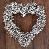 Heart Shaped Wreath — Stock Photo