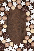 Gingerbread Biscuit Background — Stock Photo
