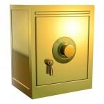 Gold safe icon — Stock Vector