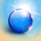 Blue sphere background — Vector de stock