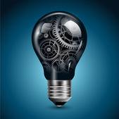 歯車と電球 — ストックベクタ